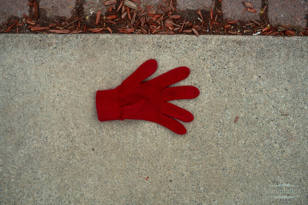 Lonely Red Glove   ian.photos